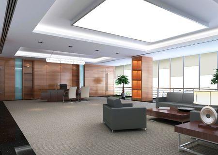 3d modern office room photo