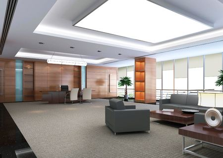 vestibulos: Sala de oficina moderno 3D  Foto de archivo