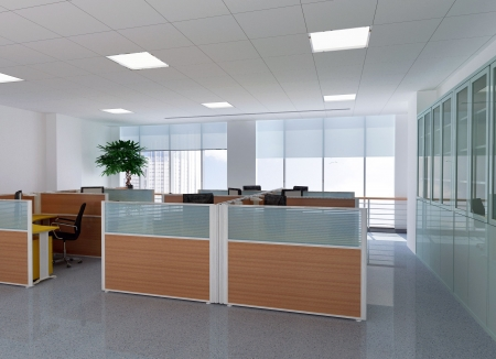 3d modern office room Stock Photo - 6710730