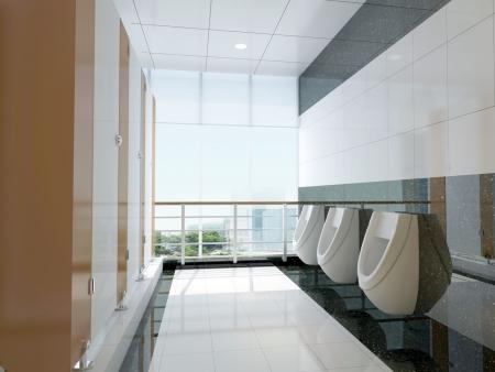 3D de salle de bains public Banque d'images