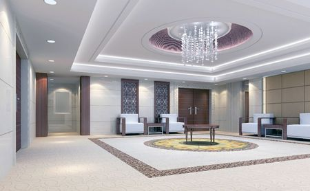3d reception room rendering, meeting room Reklamní fotografie - 6864414