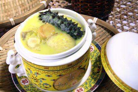 sea slug: china delicious food—sea slug and abalone Stock Photo