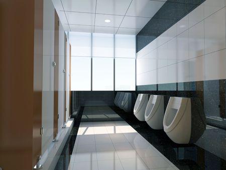 design moderne int�rieur de salle de bain �l�gant. Rendu 3D Banque d'images