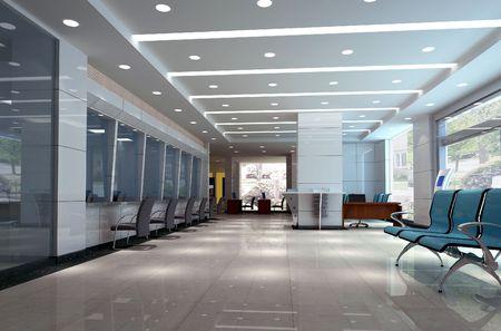 design int?rieur moderne de l'entreprise hall. 3D render Banque d'images