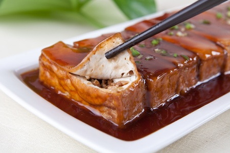 bean curd: food in china -- meat in bean curd