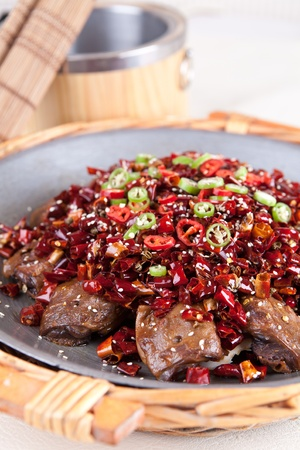 goose head: food in china-chili and goose head
