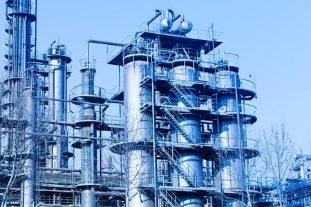 현대 산업, 정유 공장 스톡 콘텐츠 - 9194923