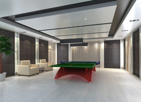 체육관에서 탁구에 대 한 3d 게임 방.