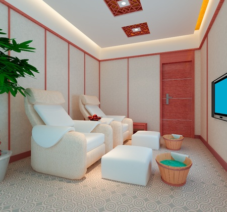 foot massage room, 3D render Stock Photo - 10462726