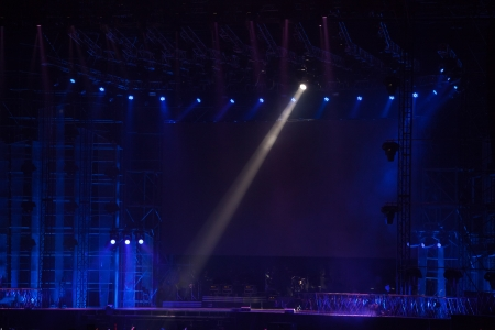 empty stage: image of stage lighting effects Editorial