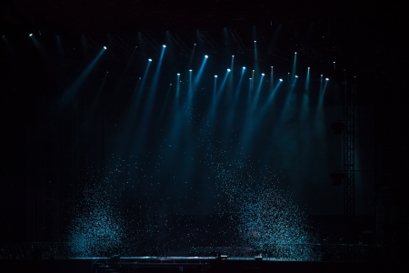 photographic effects: image of stage lighting effects Editorial