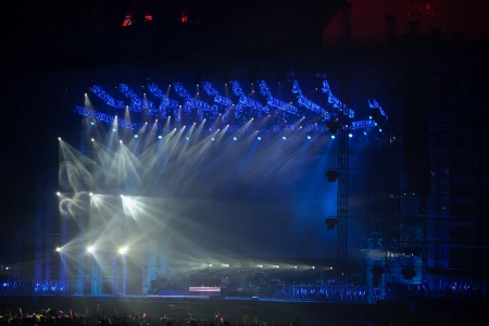 lighting: image of stage lighting effects Editorial