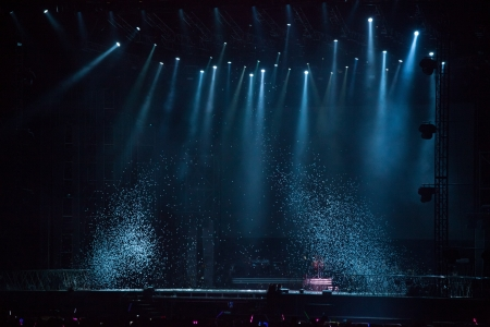 lighting effects: image of stage lighting effects Editorial