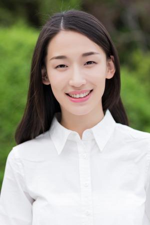 young students: asiático mujer Foto de archivo