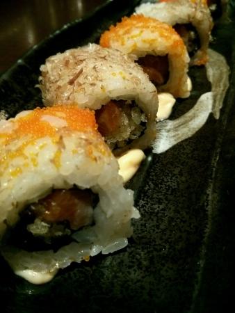 cranky: Cranky Salmon Maki Stock Photo
