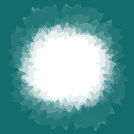 A square-shaped background in a dark green-blue color. In the center is a white circle, instead of your text. -Its a shopping banner for advertising and shopping. It is vector illustration.
