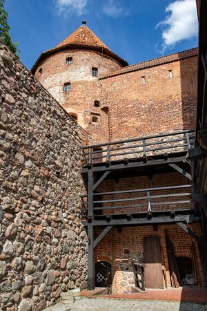 Bytow, pomorskie / Poland - June, 06, 2019: City of Bytow, Teutonic castle, museum and hotel. Season spring Editorial