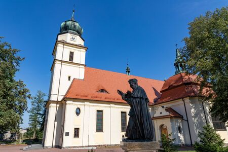 Solec Kujawski, Kuyavian-Pomeranian Voivodeship  Poland - September, 11, 2019: Church of St. StanisÅ'aw Bishop and Martyr in Solec Kujawski. Religious buildings in Central Europe. Summer season. Editöryel
