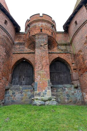 Malbork, pomorskie / Poland - January, 24, 2020: Castle in Central Europe. The largest Teutonic stronghold. Spring season.