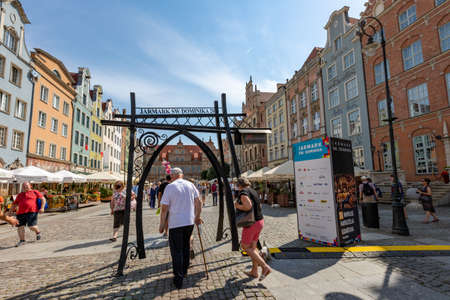 Gdansk, pomorskie / Poland - August, 8, 2020: Dominican Fair in Gdansk. A trade event organized in the old town. Summer season. Editorial