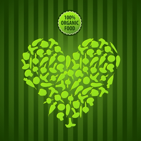 background with vegetables vegetarian organic food  Vector