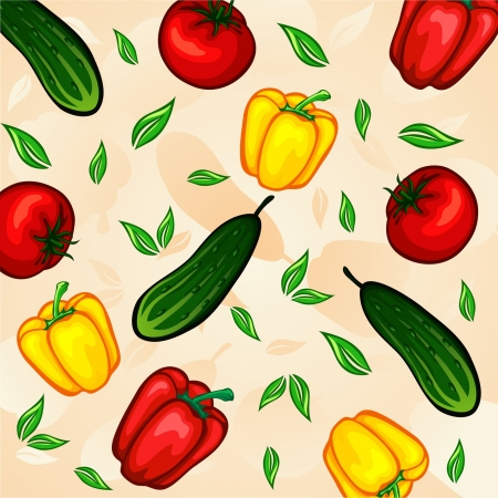 abstract art vegetables: vegetables pattern