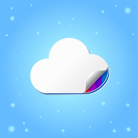 Cloud computing concept illustration Vector