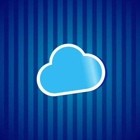 Cloud computing sticker icion concept vector illustration  Stock Vector - 15210084