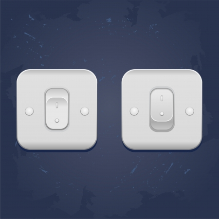 web illustration Light On Off switch  Vector