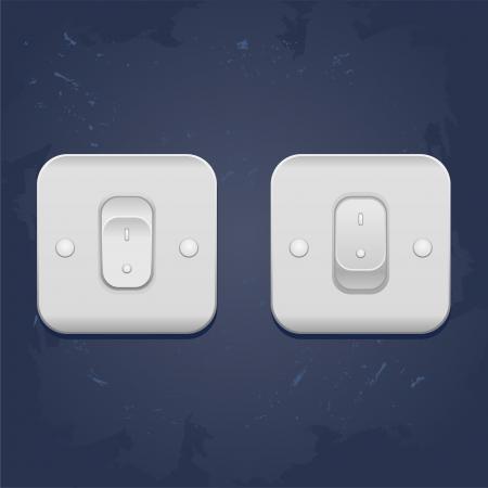 web illustration Light On Off switch