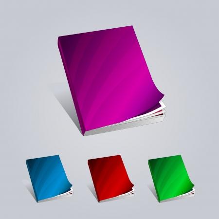 Colorful Creative Books Presentation illustration magazine Vector