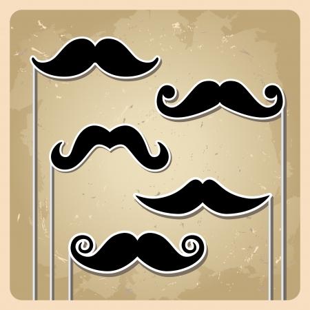 Vector hipster mustache Stock Vector - 15227492