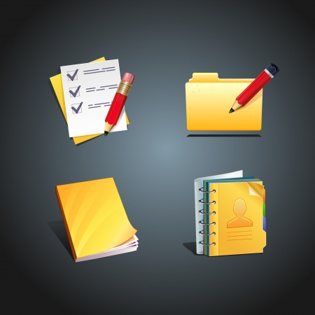 yellow Business Concept Icon design element  Vector