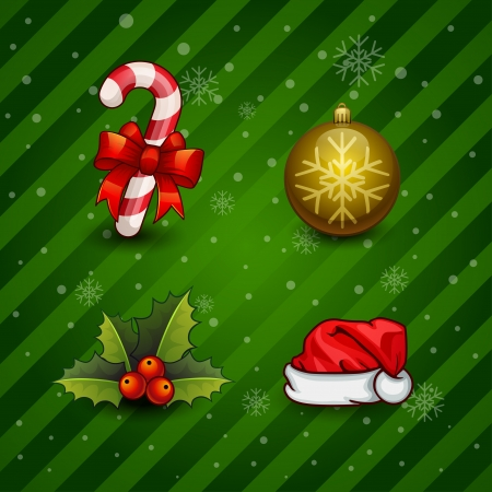 christmas items icon Vector