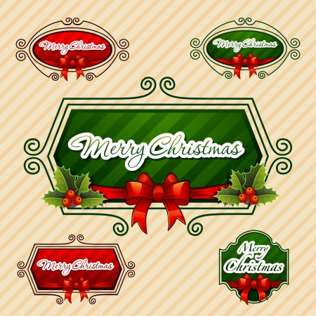 -Merry Christmas-, Creative label  Vector Illustration  Vector