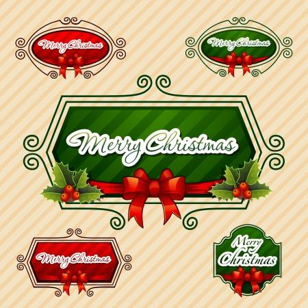 -Merry Christmas-, Creative label  Vector Illustration Stock Vector - 16798170