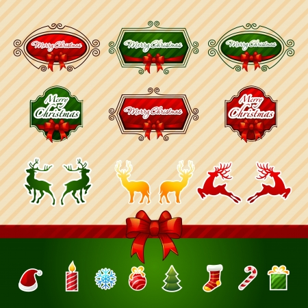 Christmas Icons Objects Collection  Detailed vector illustration  Vector