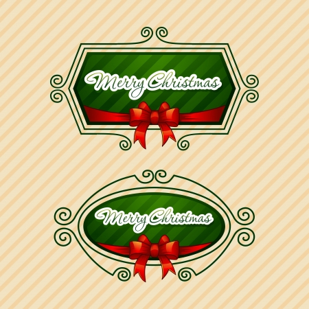 -Merry Christmas-, Creative label  Vector Illustration Stock Vector - 16798165
