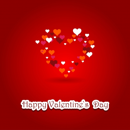 valentine s card with heart Stock Vector - 17936446