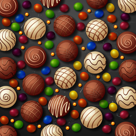 fruits background: candy vector background Illustration