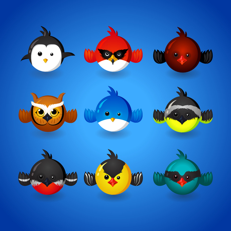 twit: Set funny birds