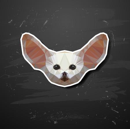 zorro: Resumen tri�ngulo animales poligonal en el estilo de origami