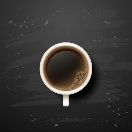 good break: coffee break. Hot Coffee cup on black background. it`s coffee time. on, off. All you need is coffee. recharge. chalkboard art