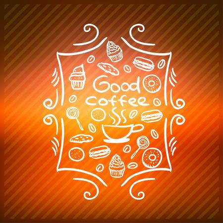 good break: coffee break. good Coffee cup vector icon background