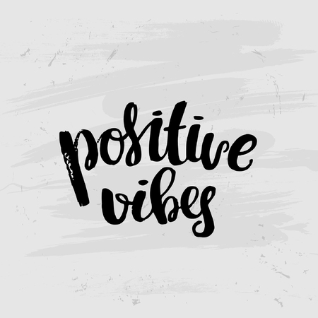 vibes: trendy lettering concept handwritten poster. Positive vibes Illustration