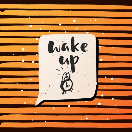 oracion: calligraphy. Template post card. concept motivation  wake up