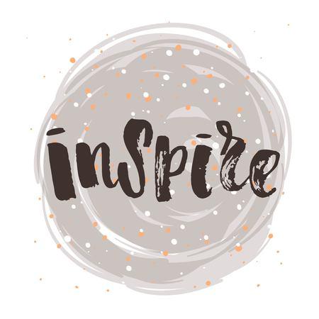 Hand drawn calligraphy. Template post card. concept handwritten motivation  inspire Illustration