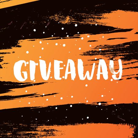 giveaway: Template post card. concept handwritten motivation  giveaway Illustration