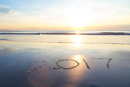 kalendarz: 2017 at the beach