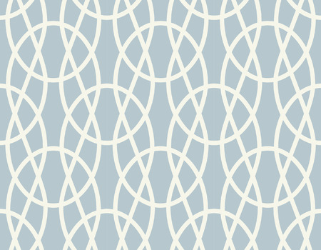 Braid knit oval circles seamless pattern Banco de Imagens - 110725913